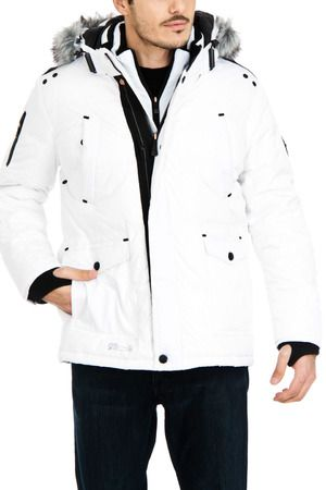 Hooded Down Mini Ripstop Jacket in White