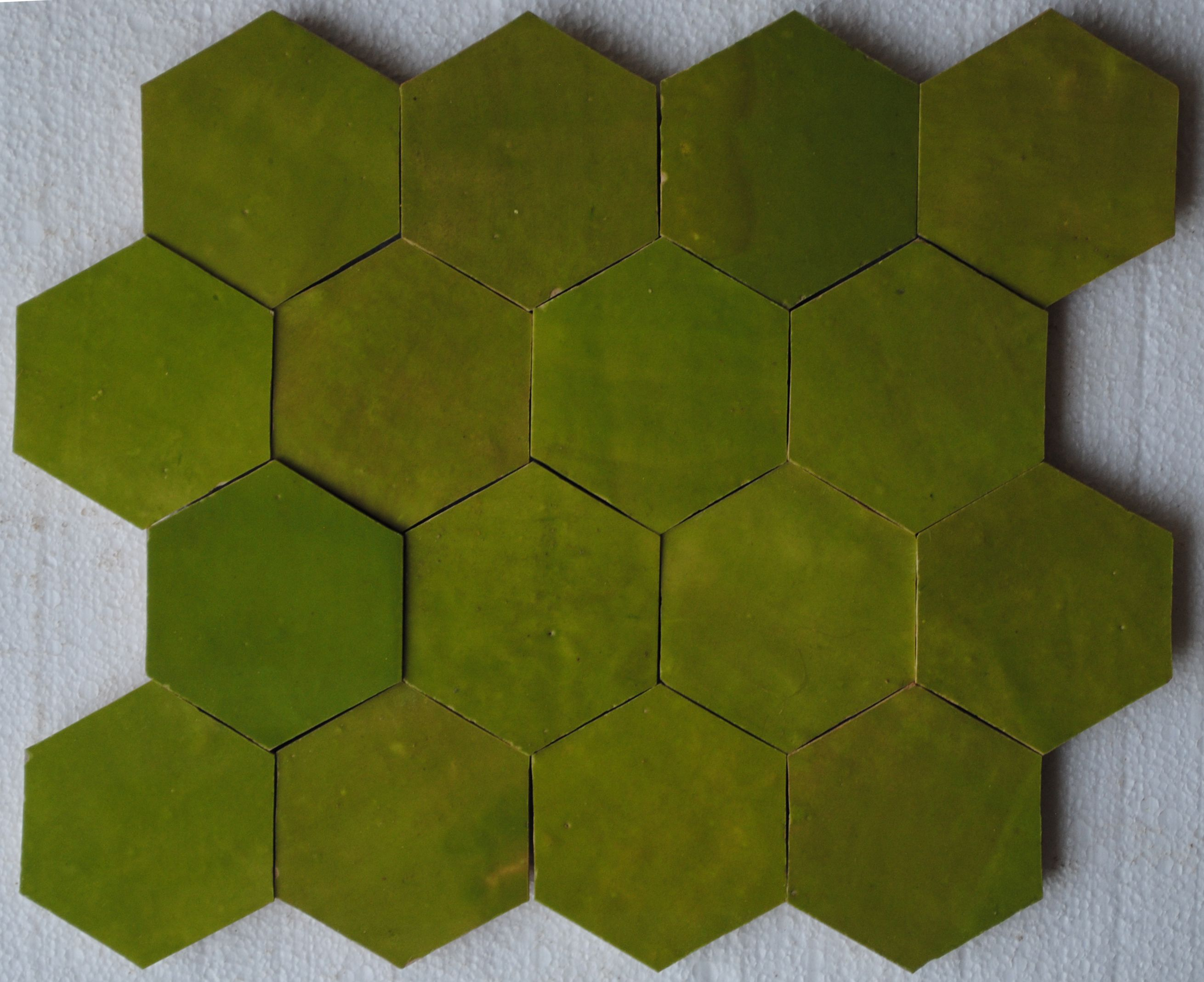 Imperial Green Zellige Tile Outdoor Flooring Natural Stone