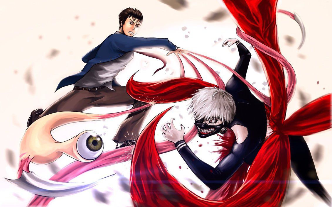 Shinichi Izumi vs Kaneki Ken by QOSiC/////used