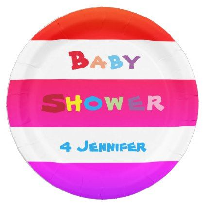 PERSONALIZED Colorful BABY SHOWER Paper Plates - diy cyo customize create your own personalize  sc 1 st  Pinterest & PERSONALIZED Colorful BABY SHOWER Paper Plates - diy cyo customize ...