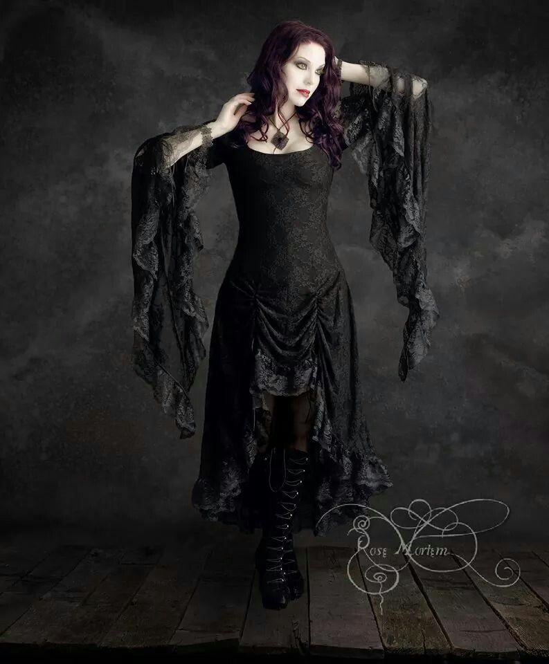 Vintage Lace Gothic Plus Size Evening Dress With Cloak A: Cassiel Dress By Rose Mortem