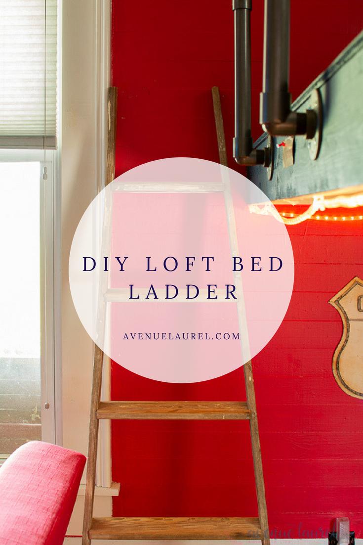 Loft bed ladder ideas  A bunk bed ladder DIY so super easy  House  Pinterest  DIY Diy