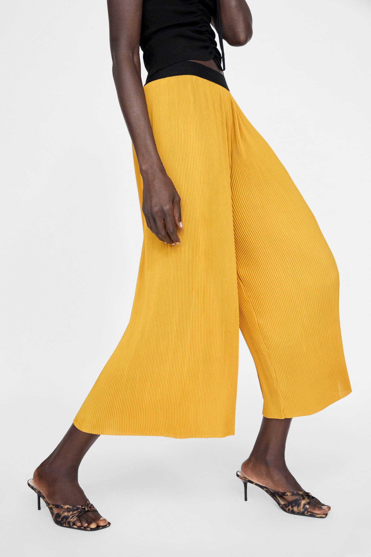 ae0249d63 Pantalon large jaune moutarde - mode femme Printemps 2019 | Fringuée ...