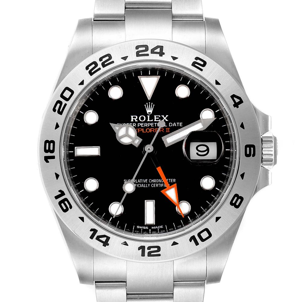 Rolex Explorer II 42mm Black Dial Steel Mens Watch 216570 Unworn #rolexexplorerii