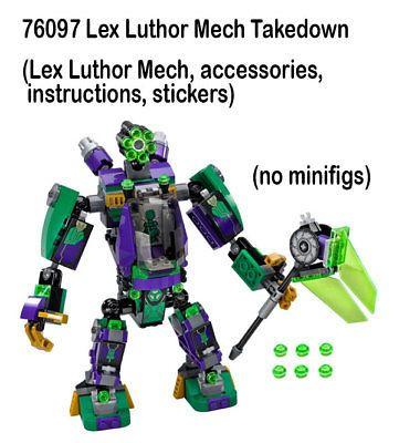 Lego LEGO Bausteine & Bauzubehör 1x Aufkleber Sticker Super Heroes 76097 Lex Luthor Mech Takedown neu
