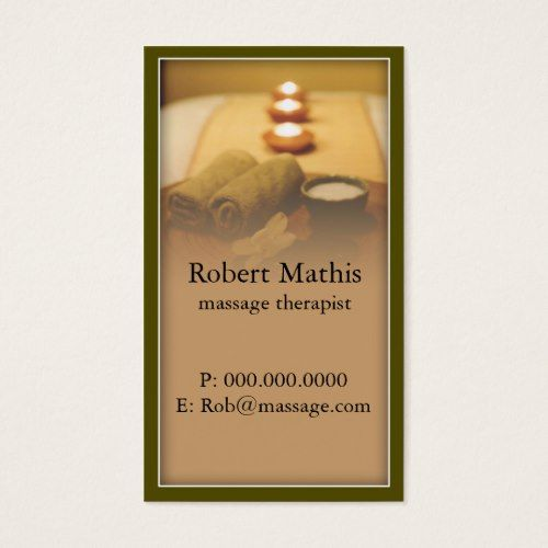 Tranquil massage therapist business card business cards and business tranquil massage therapist business card cheaphphosting Gallery