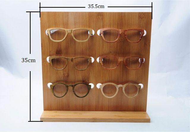 2a64f312e8 2015 Gafas de Moda gafas de Sol de Bambú Bastidores Soporte De Exhibición  De Madera Estante Soporte Para 6 pares de gafas de Sol DS002