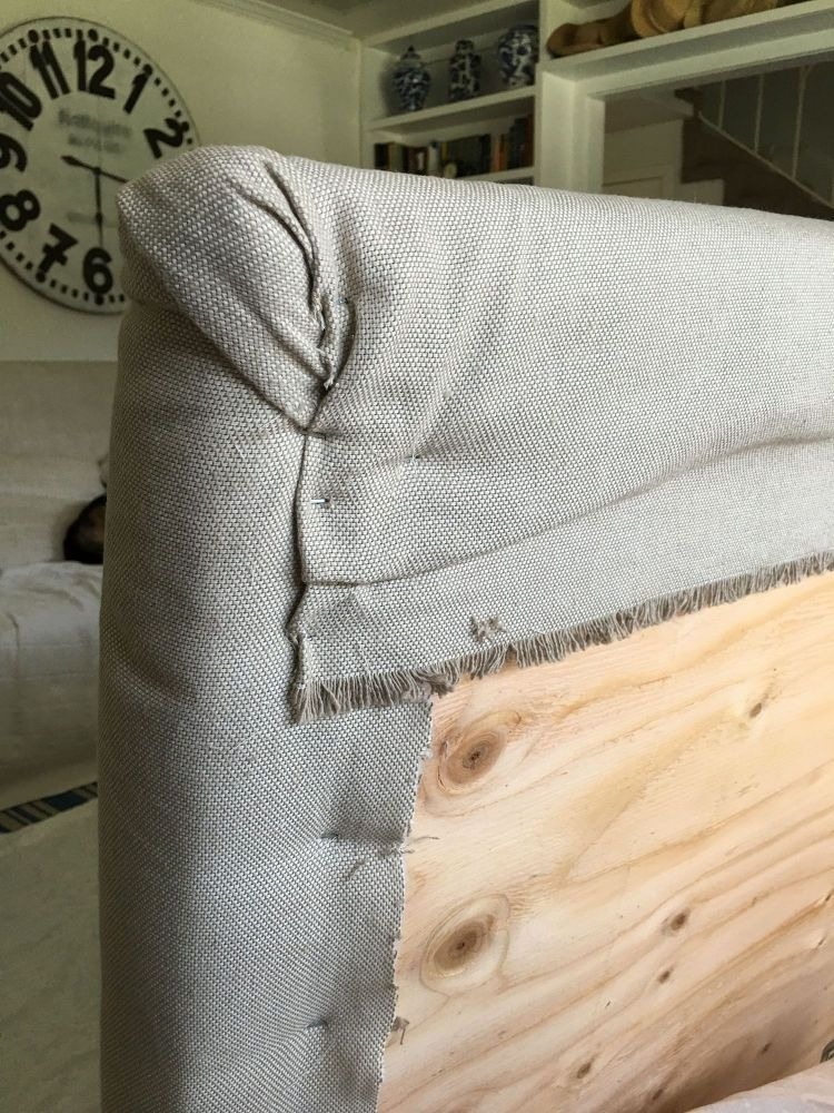 How I Made My Upholstered Monogrammed Headboard