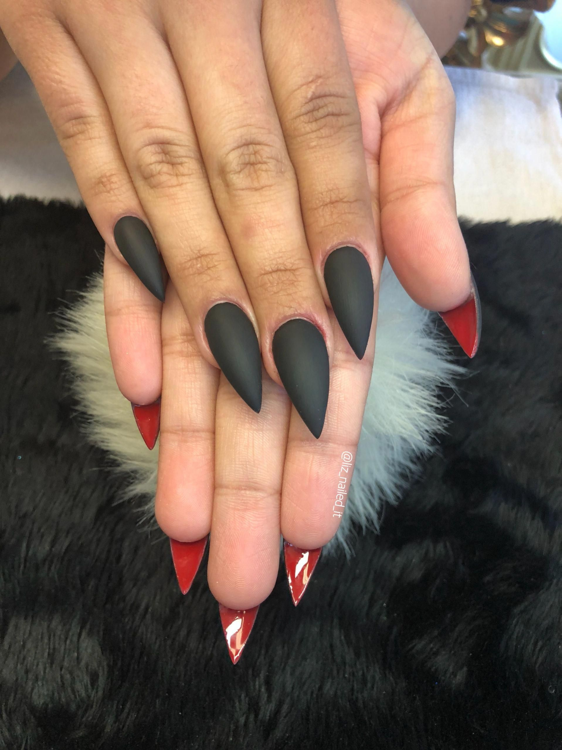 Faded French Nails Coffin Frenchtipnaildesigns Red Bottom Nails Red Ombre Nails French Fade Nails