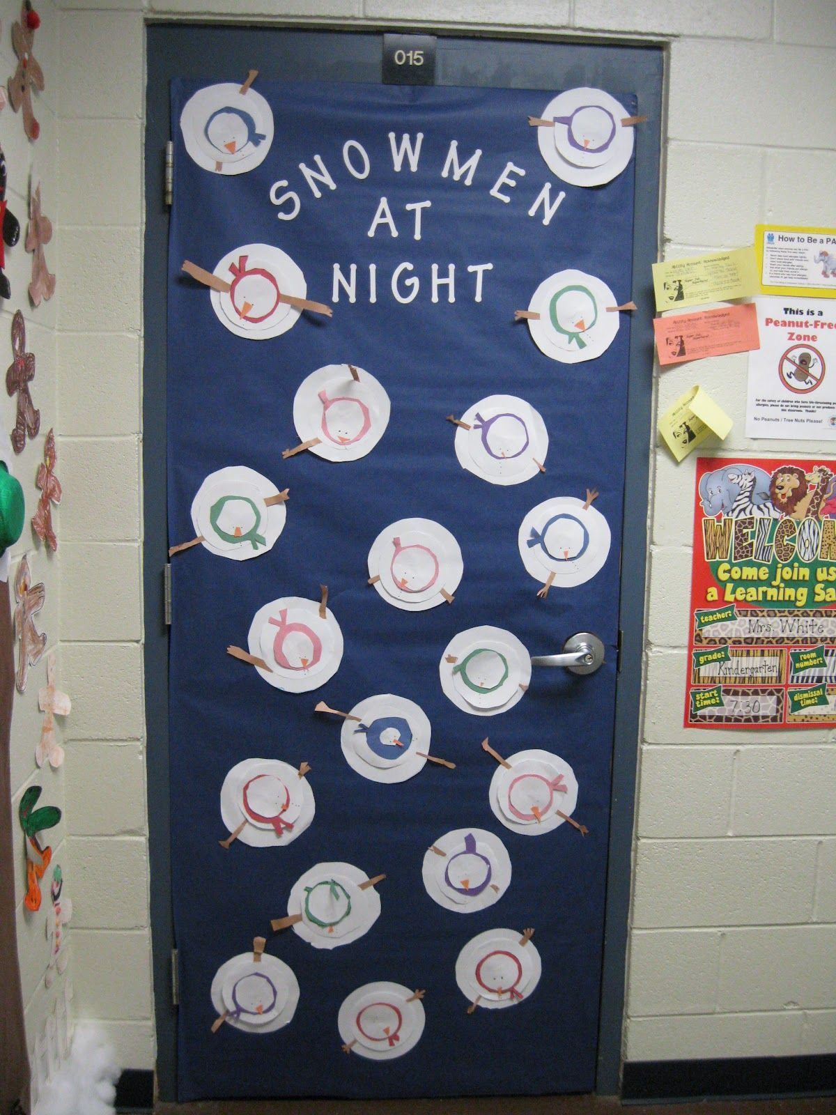 Glitter and Glue Literacy Week- Door Decorating Contest & Here are some of the precious snowmen: | Christmas | Pinterest | Snowman