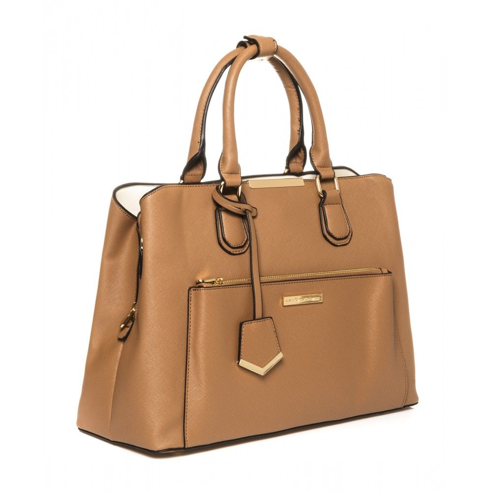 Spencer Tech Tote In Caramel 40269 Colette By Hayman