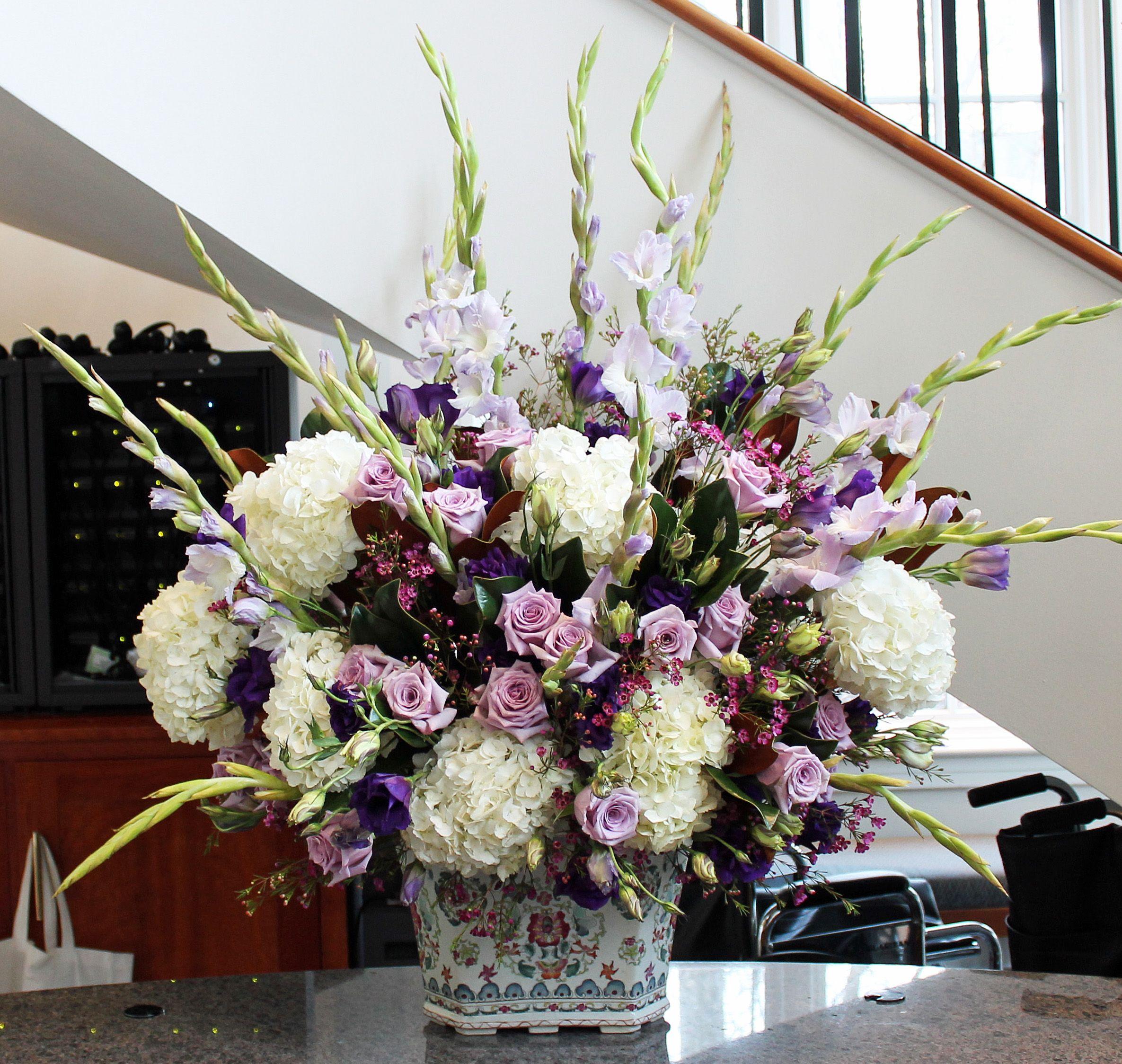 Church Altar Arrangements Wedding Flowers Gladiolas: Arrangement From December 31, 2013: Hydrangea, Lavender