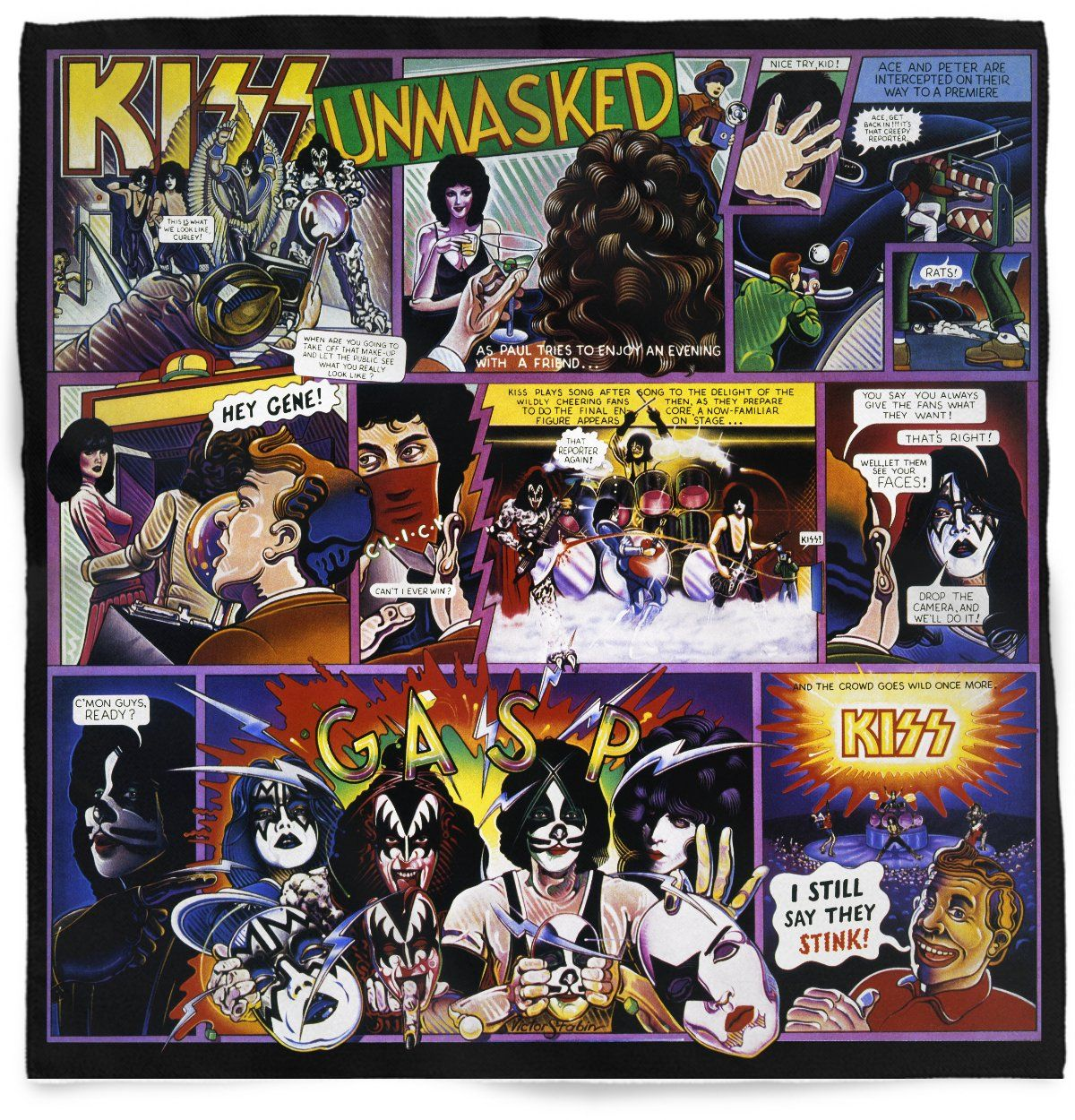 Kiss Unmasked Bandana Album Cover Art Kiss Album Covers Rock