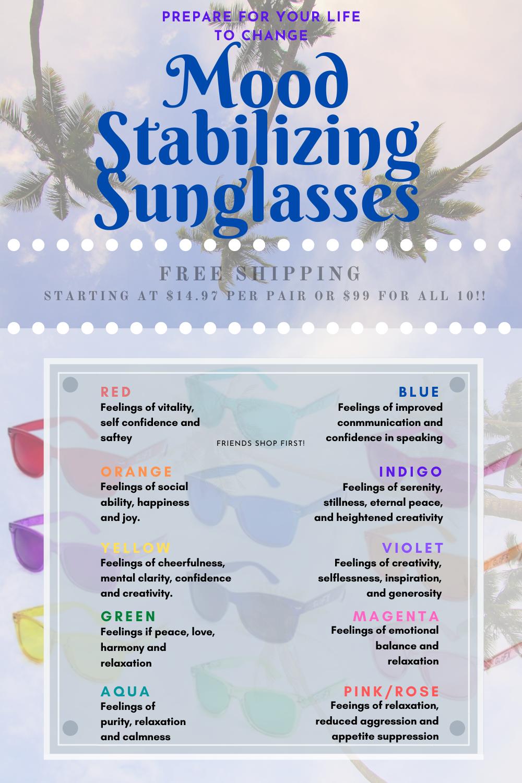 GloFX Indigo Color Therapy Glasses Chakra Glasses Feeling of Serenity /& Stillnes