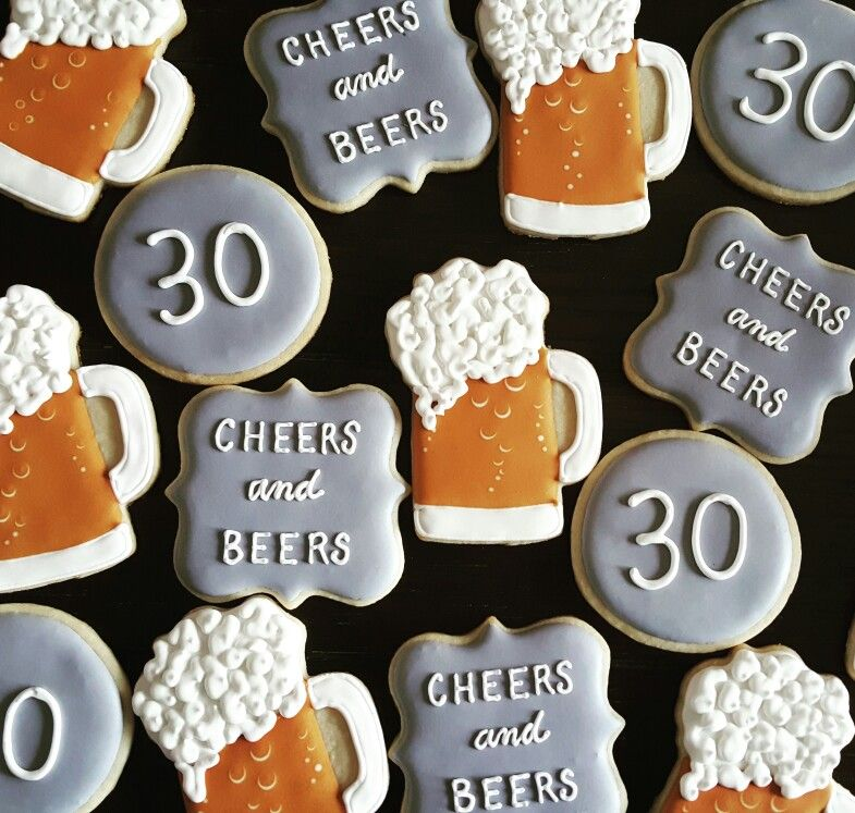 Cheers and beers to 30 years cake