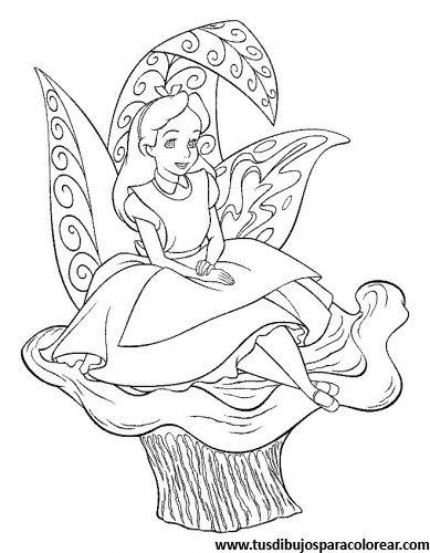Alicia En El Pais De Las Maravillas Para Colorear Paginas Para
