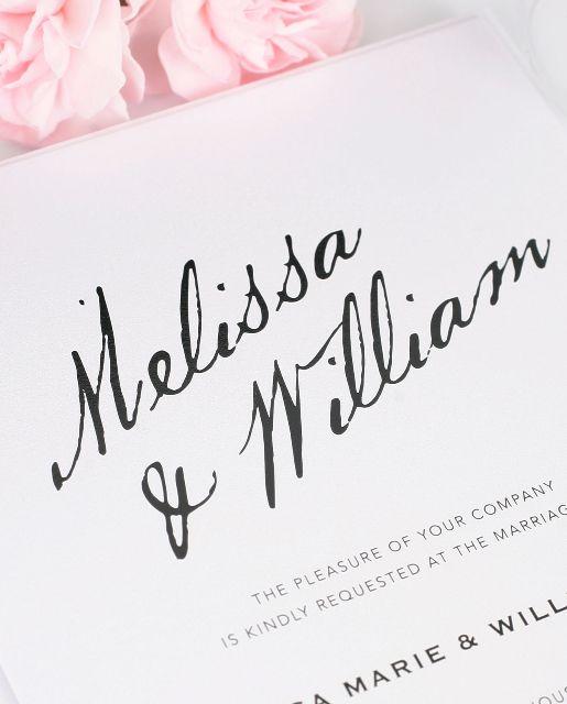Modern Wedding Invitation With Calligraphy Names Weddinginvitations