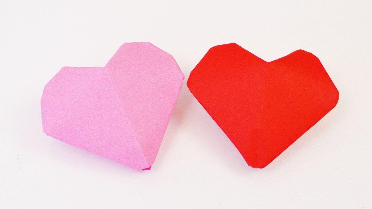 3d herz origami  kleine herzen zum aufblasen falten