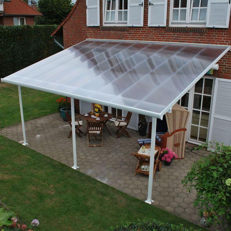 10 X 12 Outdoor Hardtop Polycarbonate Roof Patio Gazebo W/Netting .