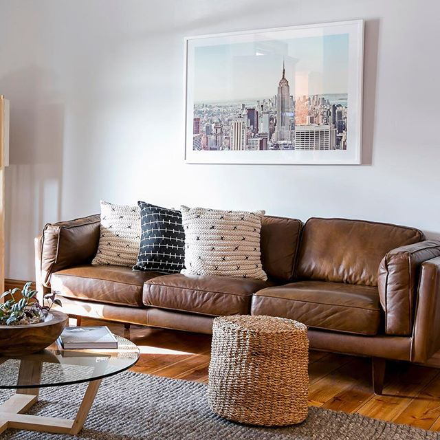 Freedomu0027s Brooklyn 3 Set Sofa In Leather. Inspired By Mid Century Design  And Upholstered