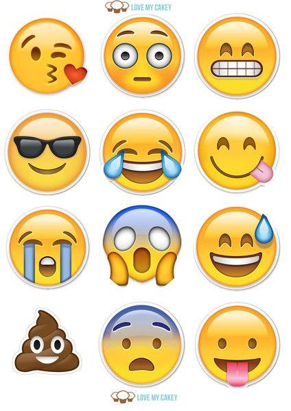 Social Media Cupcake Toppers Cumpleanos De Emojis Fiestas Emojis Decoracion Emoji