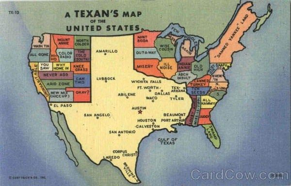 Texasunited States Map Please Excuse Texans For Thinking They - Texas-on-the-us-map