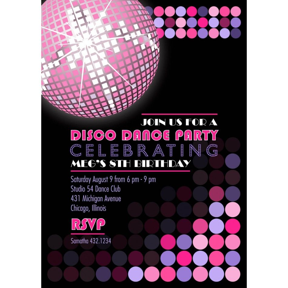 disco invitation cards - Google Search | MC Birthday Cards ...