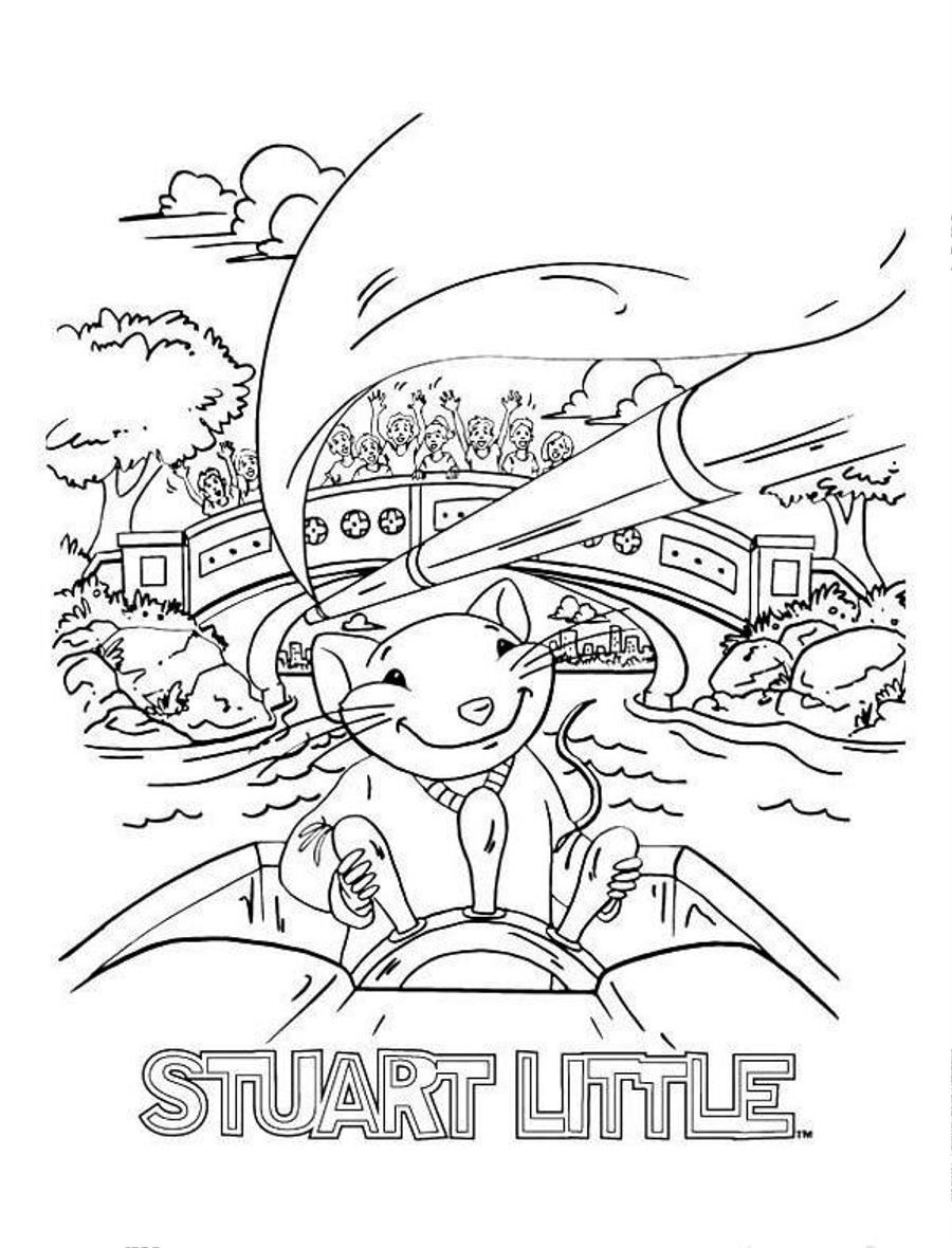 worksheet Stuart Little Worksheets Free stuart little the sailor coloring page coloringplus com mss com