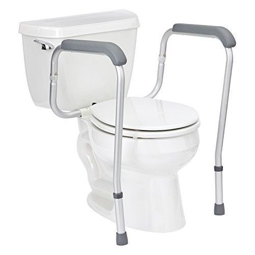 Toilet Safety Rails Support Grab Bar Adjustable Height Padded ...
