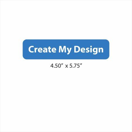 4 25 x 5 5 Custom Standard, White | Products | Personalized