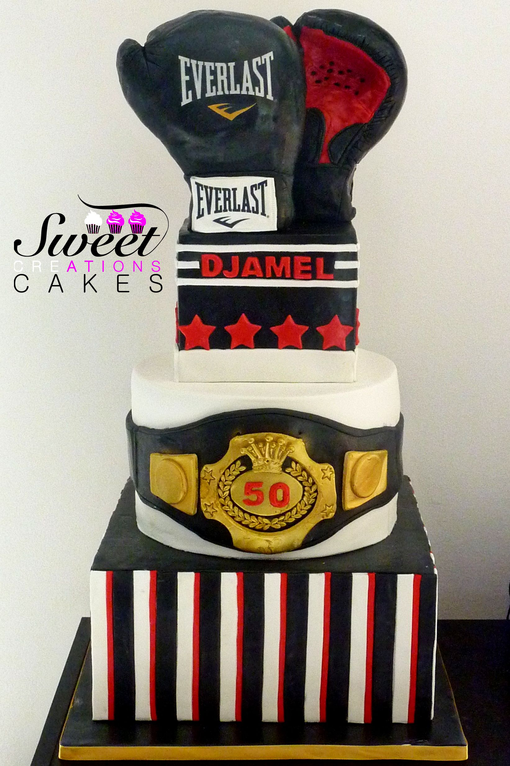 G 226 Teau Th 232 Me Boxe Tout Comestible Boxing Themed Birthday