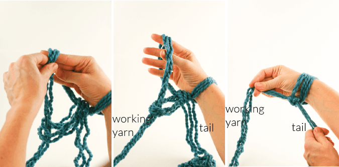 Photo of Arm Knitting How-To Photo Tutorial // Part 1: Casting On – Flax & Twine