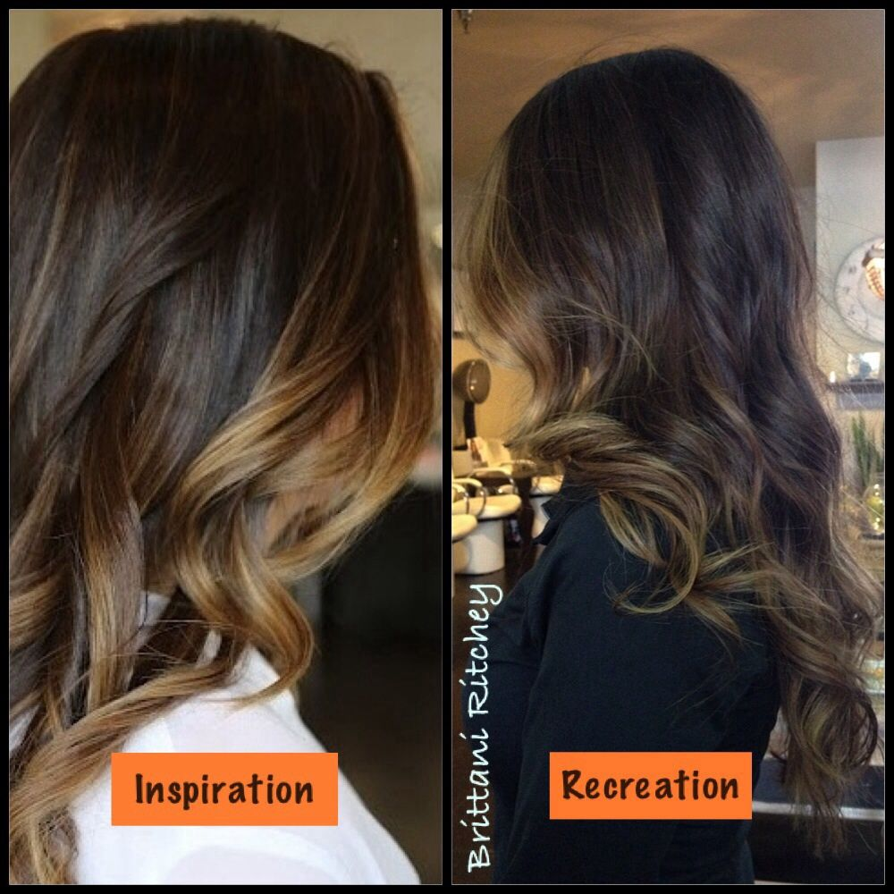 Dark chocolate brown with sunkissed Carmel highlights