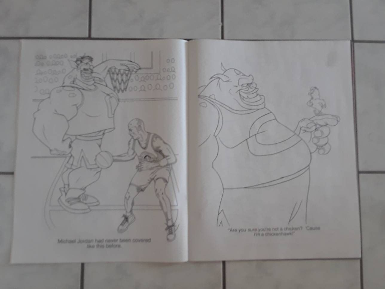 Vintage Looney Tunes Space Jam Giant Coloring Book Looney Tunes