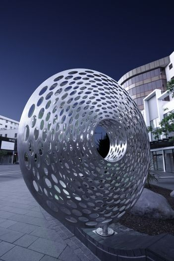 I love this piece of artwork in Newmarket (Auckland) AND it moves. You can push it to rotate on the base.  Gorgeous