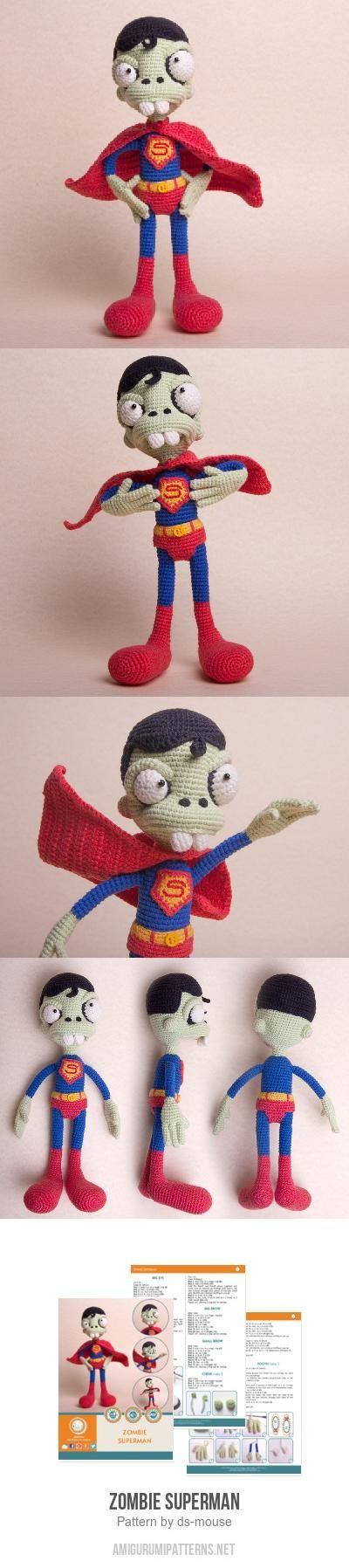 Zombie Superman amigurumi pattern by Ds_mouse | Kuscheltiere häkeln ...