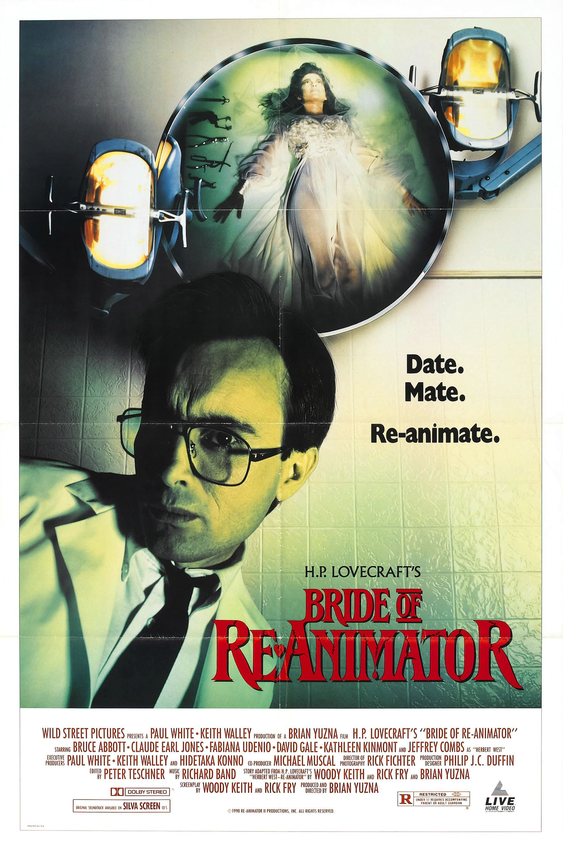 Bride Of Reanimator Re Animator Horror Movie Posters Horror Movies