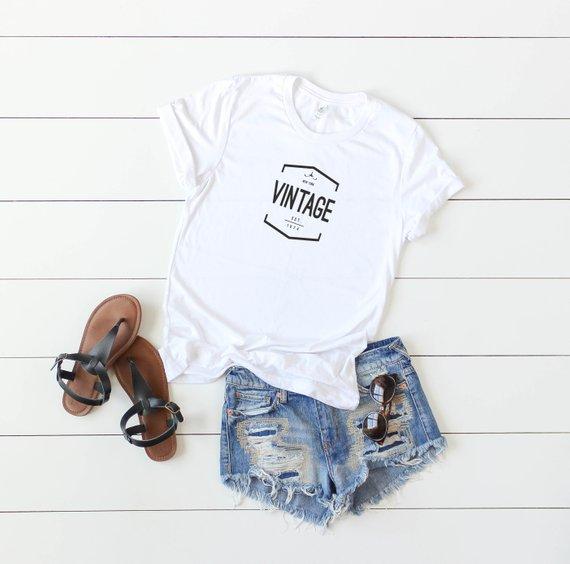 New York 44th Birthday Gift For Women Vintage 1974 T Shirt 44t