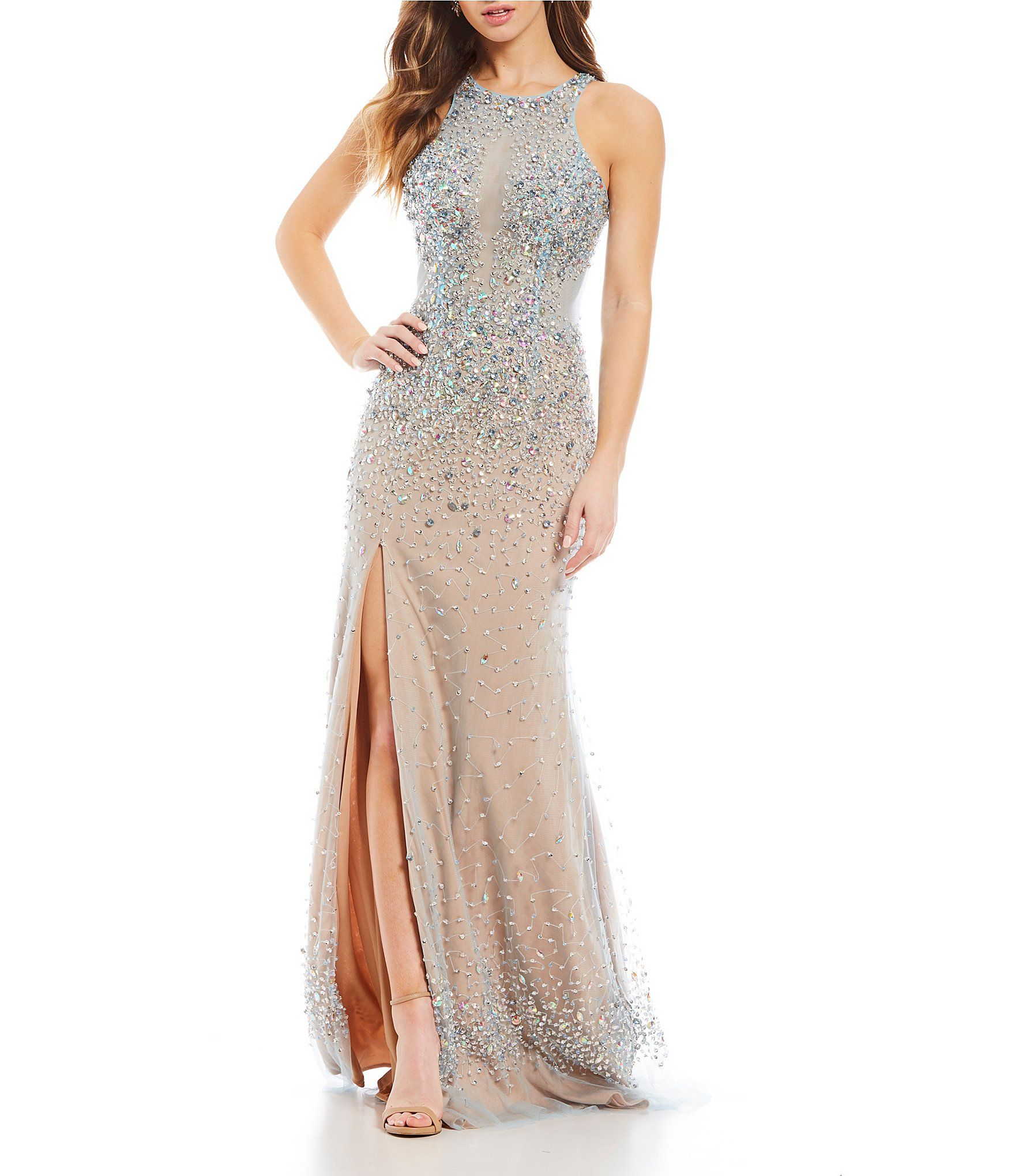 Glamour By Terani Couture Beaded Long Dress Dillards Dream Formal