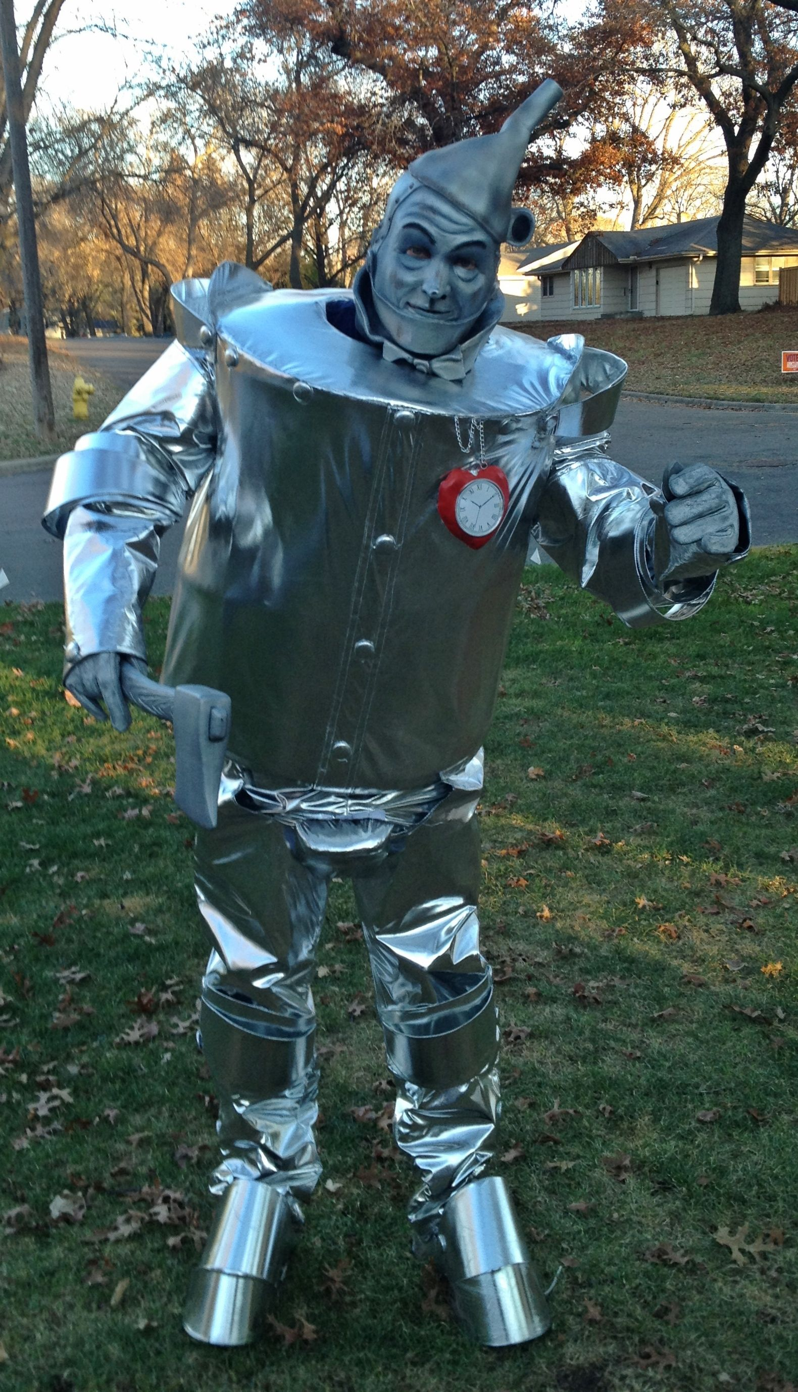Tinman Halloween Costume Home Made Body With Mask