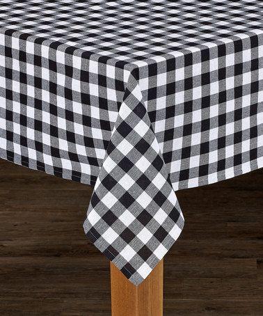 Loving This Black U0026 White Buffalo Check Table Cloth On #zulily! #zulilyfinds