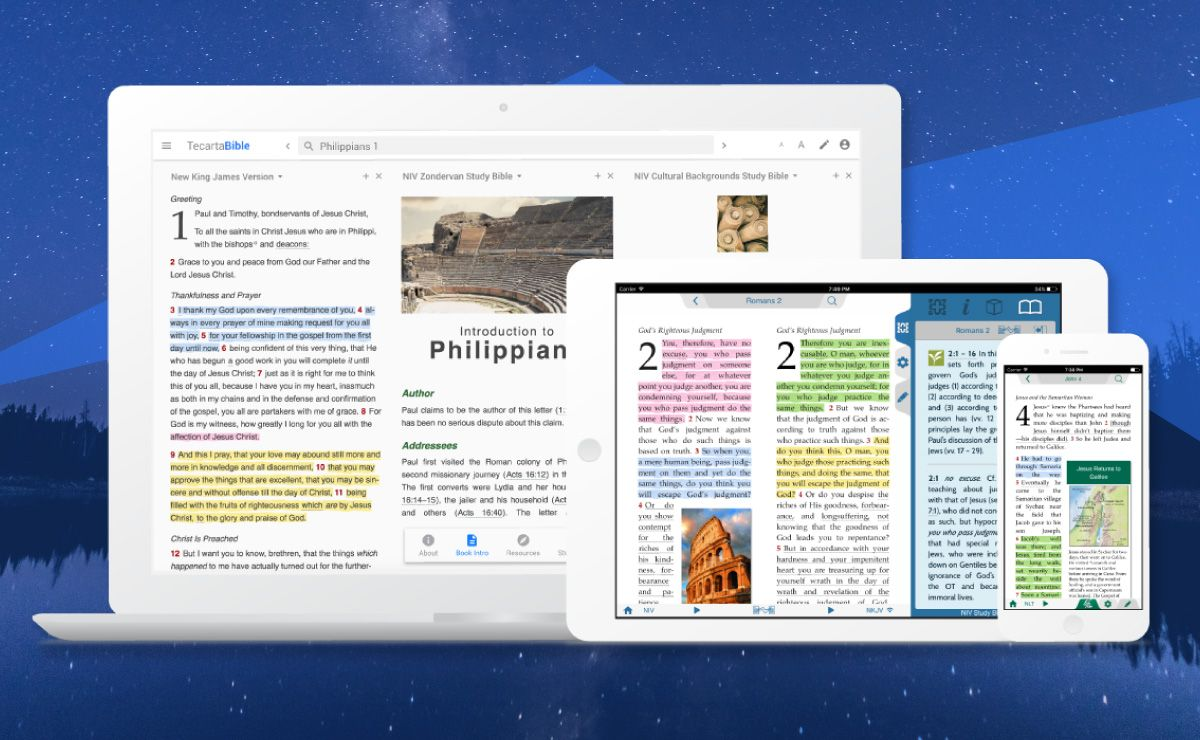 Unlimited access to study Bibles, commentaries and