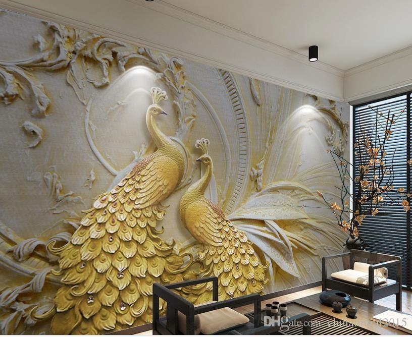Custom 3d Wall Paper For Living Room For Walls For Living