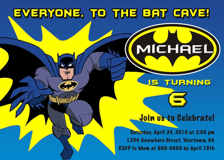 The Ethics of Batman Birthday Invitations smart design the ...