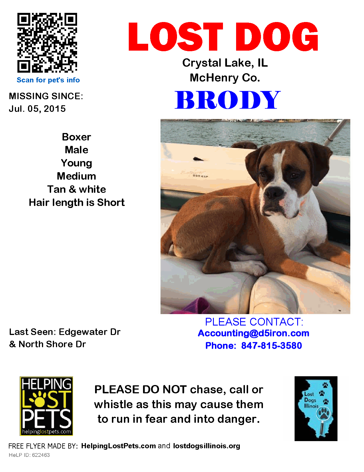Lost Dog Boxer Crystal Lake, IL, United States