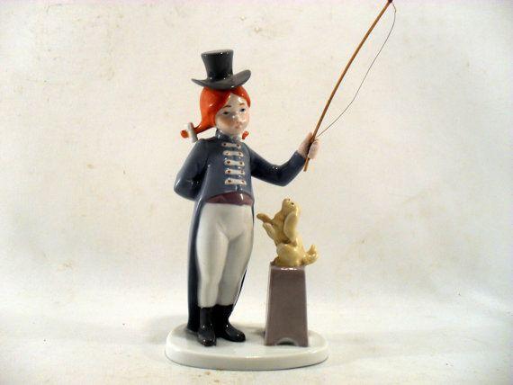 Goebel 1985 Porcelain Animal Trainer w/Puppy Figurine Germany SOLD