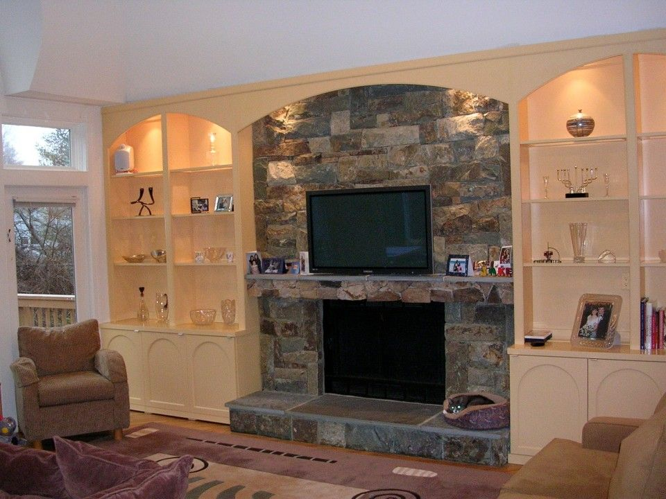 living room wall cabinets built%0A Mahogany builtin wall units and fireplace surround for family room   Showcase Kitchens New York   For the Home   Pinterest   Fireplace  surrounds