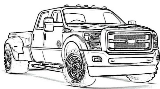 New Ford Truck Coloring Page in 2020 | Cars coloring pages ...