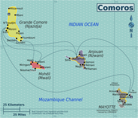 Comoros travel guide Wikitravel COMOROS TOURISM Pinterest