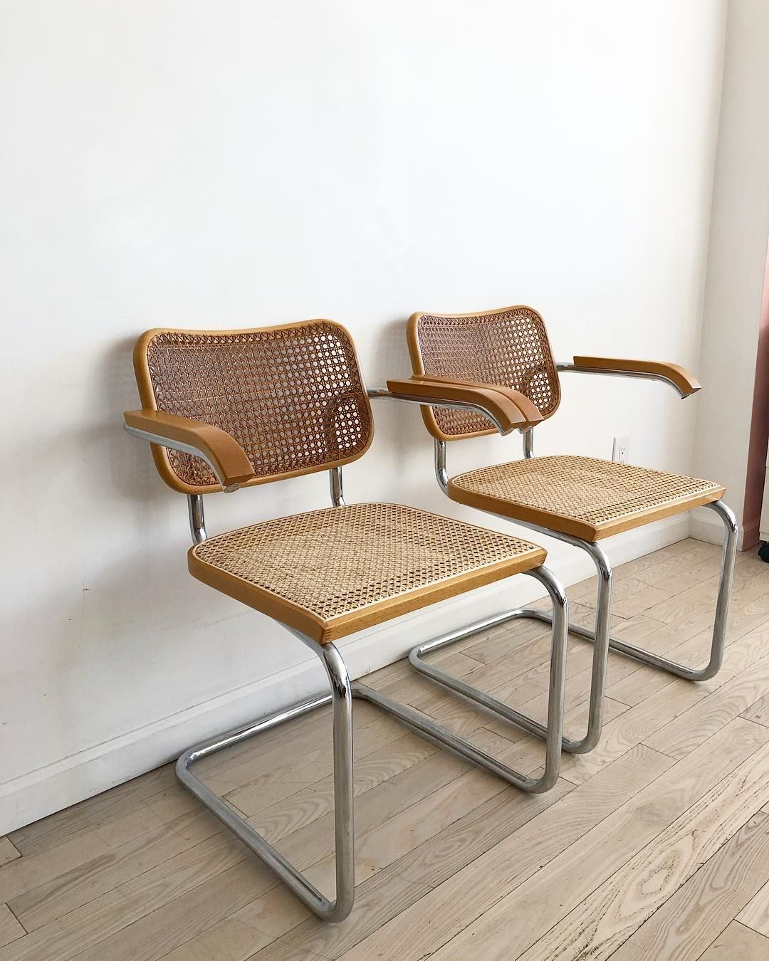 Marcel Breuer Cesca Chair Replacement Cane Seat Back Combo Walnut Made in Italy